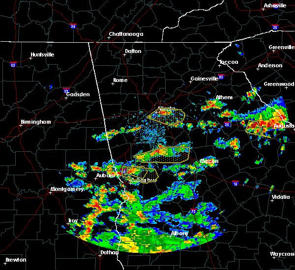 Radar Image for Severe Thunderstorms near Columbus, GA at 6/9/2015 3:33 PM EDT