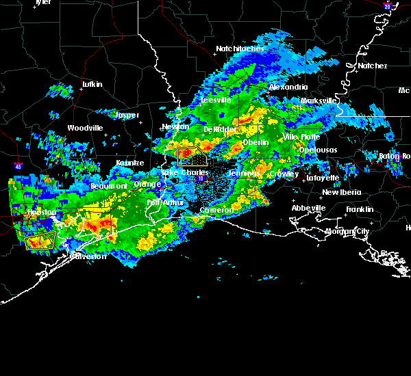 Radar Image for Severe Thunderstorms near DeQuincy, LA at 2/26/2019 8:30 PM CST