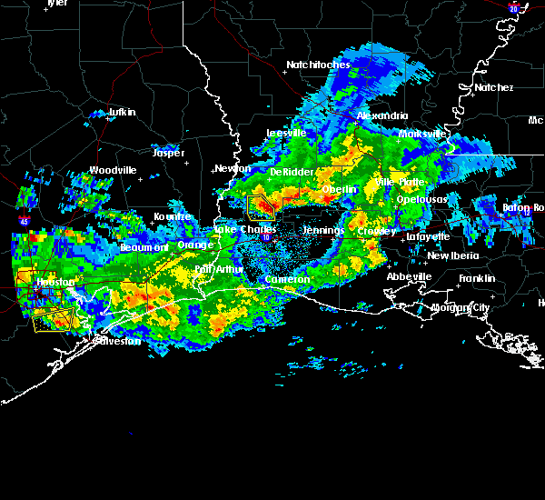 Radar Image for Severe Thunderstorms near DeQuincy, LA at 2/26/2019 8:47 PM CST