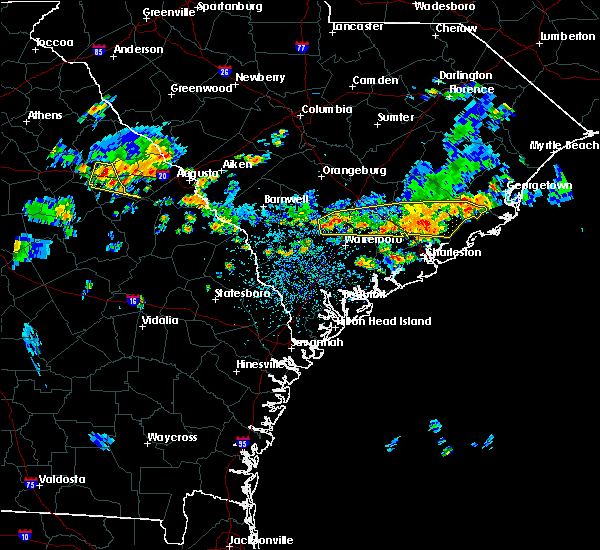 Radar Image for Severe Thunderstorms near Lincolnville, SC at 6/9/2015 3:35 PM EDT