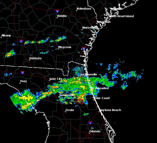Radar Image for Severe Thunderstorms near Welaka, FL at 3/2/2019 4:18 PM EST