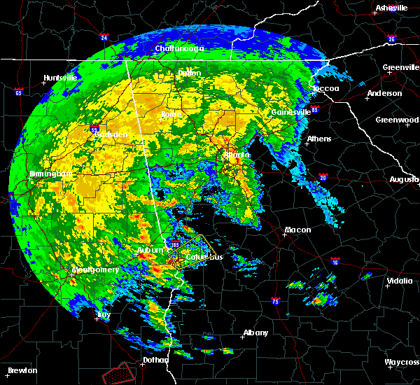 Radar Image for Severe Thunderstorms near Shiloh, GA at 3/3/2019 1:27 PM EST