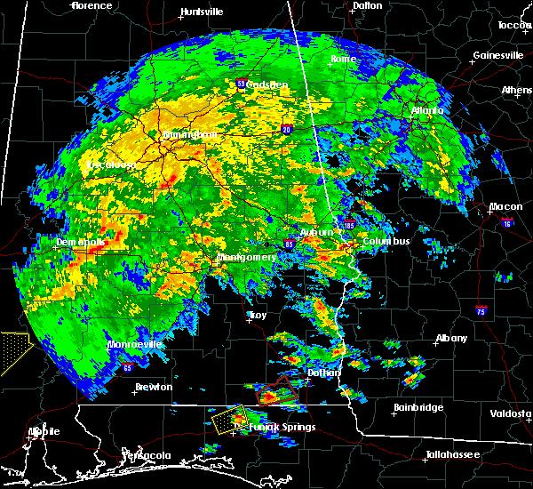 Radar Image for Severe Thunderstorms near Shiloh, GA at 3/3/2019 1:26 PM EST