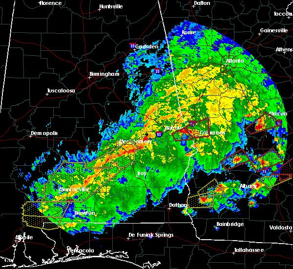 Radar Image for Severe Thunderstorms near Columbus, GA at 3/3/2019 3:25 PM EST