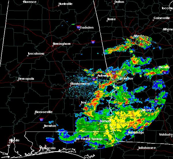 Radar Image for Severe Thunderstorms near Columbus, GA at 6/9/2015 3:49 PM EDT