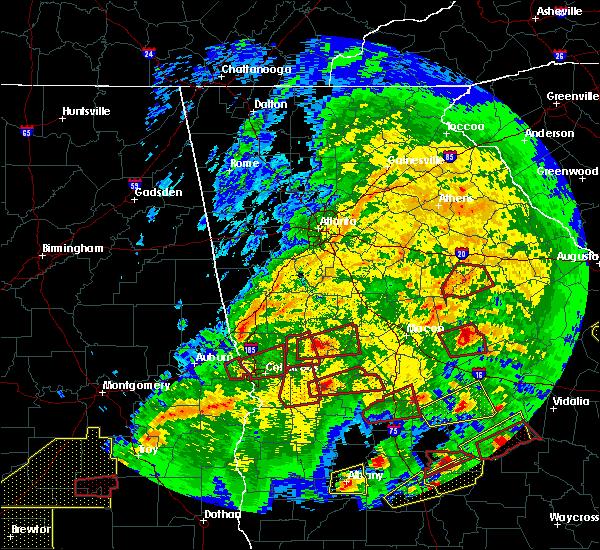 Radar Image for Severe Thunderstorms near Talbotton, GA at 3/3/2019 4:11 PM EST