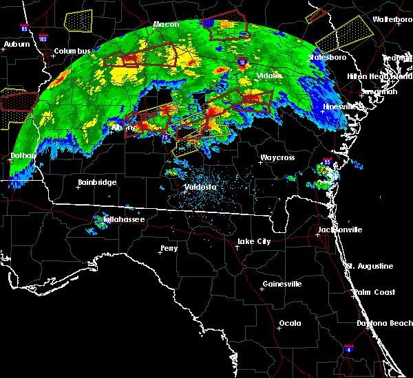 Radar Image for Severe Thunderstorms near Baxley, GA at 3/3/2019 4:45 PM EST