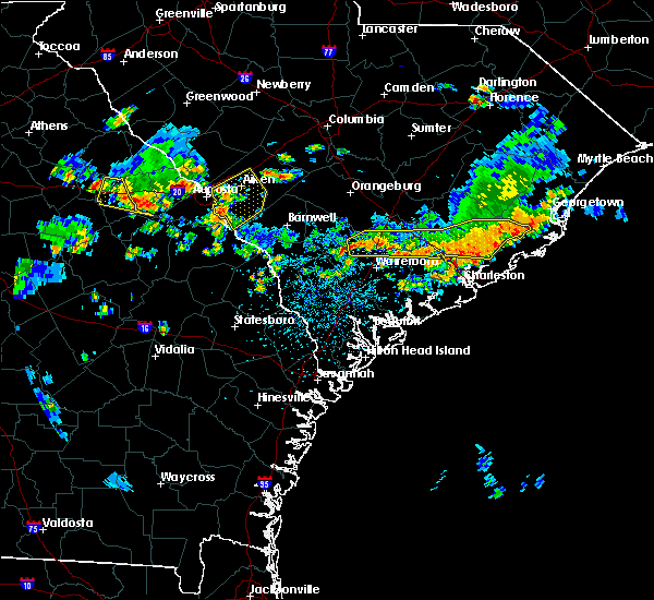 Radar Image for Severe Thunderstorms near Lincolnville, SC at 6/9/2015 3:55 PM EDT