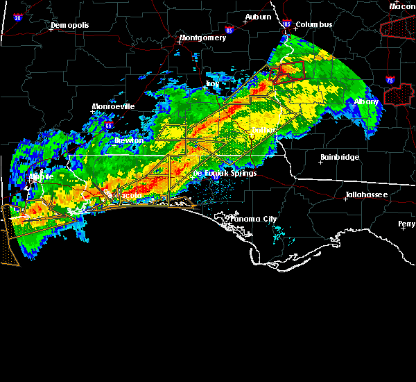 Radar Image for Severe Thunderstorms near Ponce de Leon, FL at 3/3/2019 4:08 PM CST