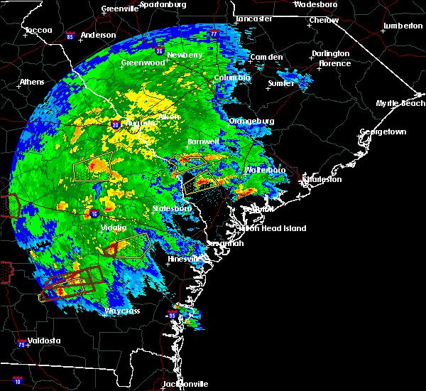 Radar Image for Severe Thunderstorms near Estill, SC at 3/3/2019 5:11 PM EST