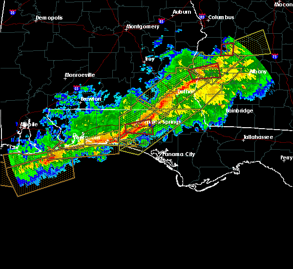 Radar Image for Severe Thunderstorms near Ponce de Leon, FL at 3/3/2019 4:49 PM CST
