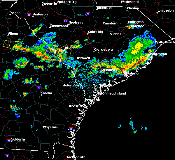 Radar Image for Severe Thunderstorms near Lincolnville, SC at 6/9/2015 4:06 PM EDT