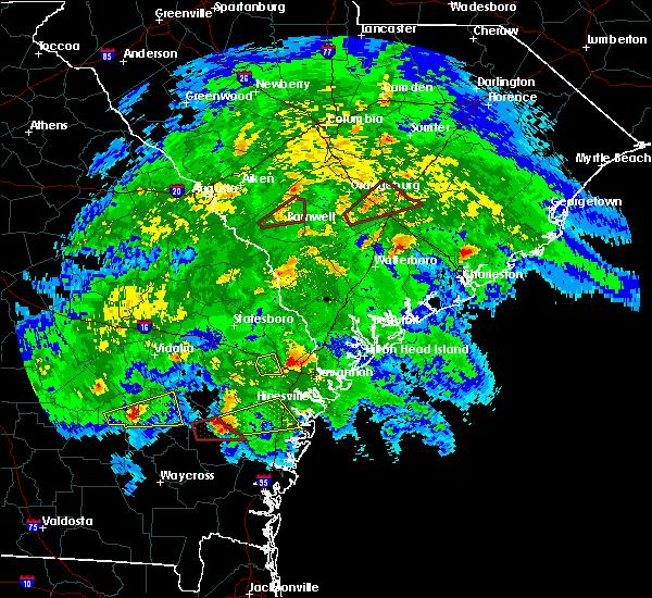 Radar Image for Severe Thunderstorms near Pembroke, GA at 3/3/2019 6:27 PM EST