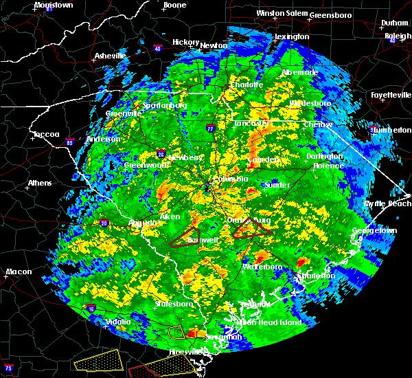 Radar Image for Severe Thunderstorms near Bowman, SC at 3/3/2019 6:27 PM EST