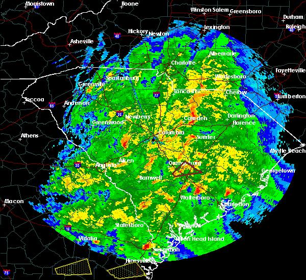 Radar Image for Severe Thunderstorms near Eutawville, SC at 3/3/2019 6:39 PM EST