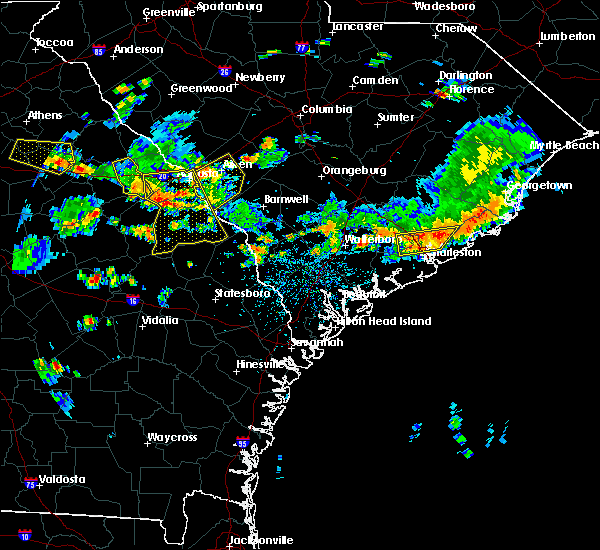 Radar Image for Severe Thunderstorms near Lincolnville, SC at 6/9/2015 4:18 PM EDT