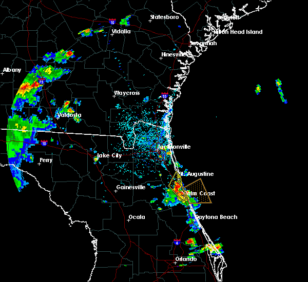 Radar Image for Severe Thunderstorms near Crescent Beach, FL at 6/9/2015 4:28 PM EDT