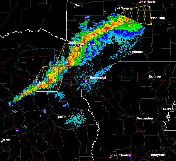 Radar Image for Severe Thunderstorms near Atlanta, TX at 3/9/2019 10:19 AM CST