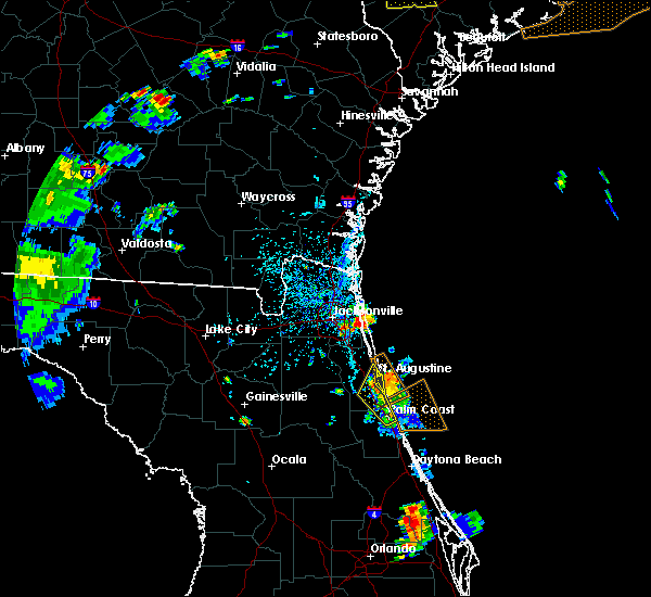 Radar Image for Severe Thunderstorms near Palm Valley, FL at 6/9/2015 4:56 PM EDT