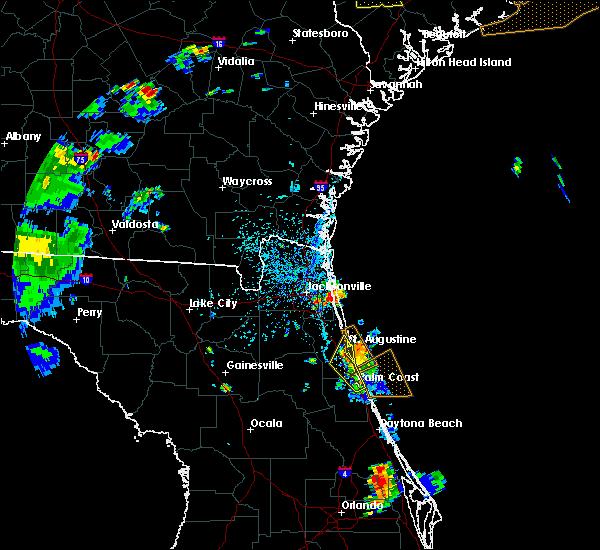 Radar Image for Severe Thunderstorms near Jacksonville, FL at 6/9/2015 4:56 PM EDT