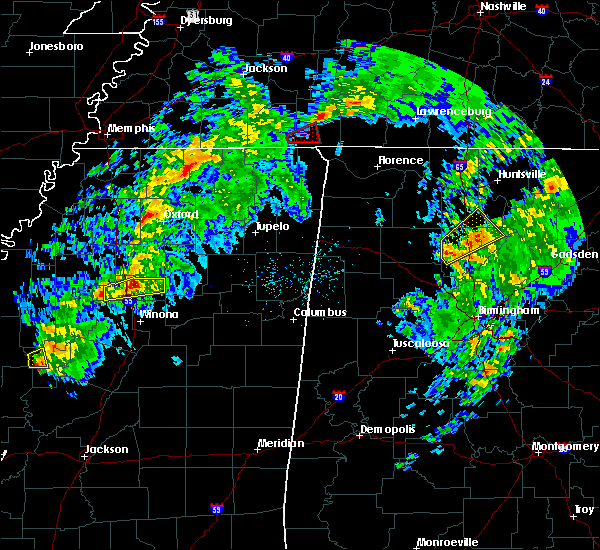 Radar Image for Severe Thunderstorms near Grenada, MS at 3/9/2019 4:01 PM CST