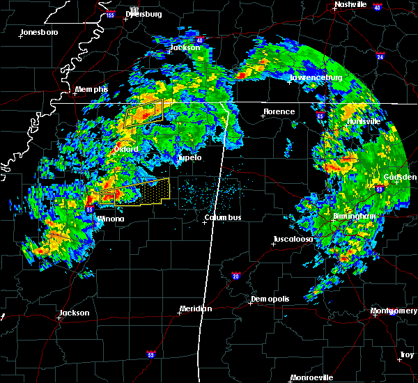 Radar Image for Severe Thunderstorms near Calhoun City, MS at 3/9/2019 4:11 PM CST