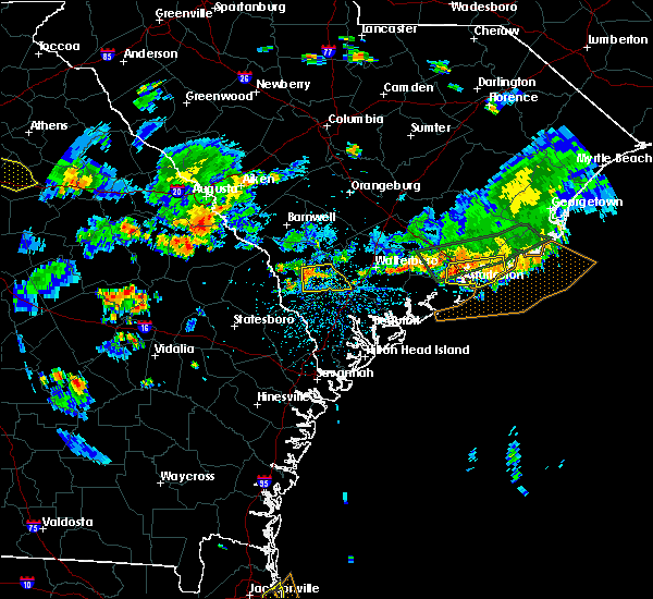 Radar Image for Severe Thunderstorms near North Charleston, SC at 6/9/2015 5:03 PM EDT