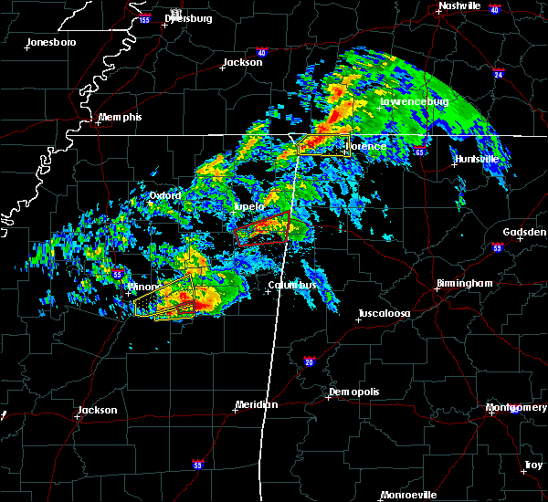 Radar Image for Severe Thunderstorms near Mississippi State, MS at 3/9/2019 5:48 PM CST