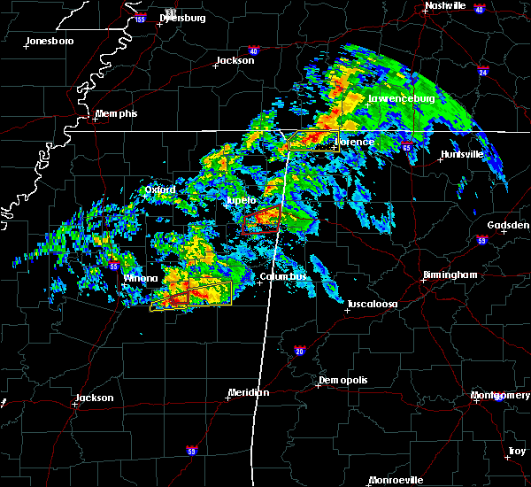 Radar Image for Severe Thunderstorms near Mississippi State, MS at 3/9/2019 5:51 PM CST