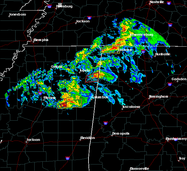 Radar Image for Severe Thunderstorms near Mississippi State, MS at 3/9/2019 6:01 PM CST