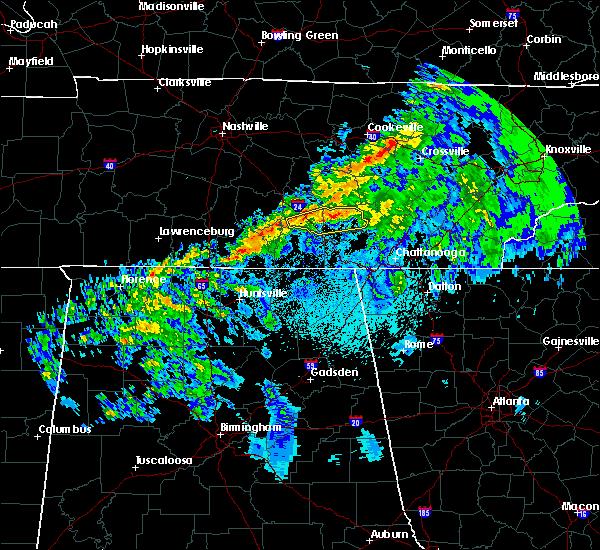 Radar Image for Severe Thunderstorms near Hillsboro, TN at 3/9/2019 9:19 PM CDT