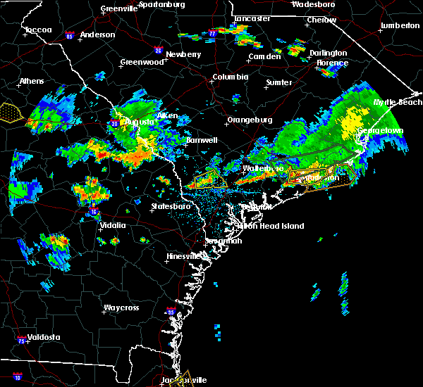 Radar Image for Severe Thunderstorms near North Charleston, SC at 6/9/2015 5:22 PM EDT