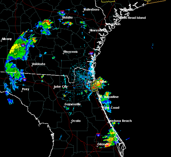 Radar Image for Severe Thunderstorms near Palm Valley, FL at 6/9/2015 5:28 PM EDT