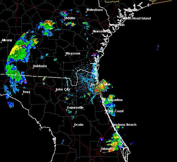 Radar Image for Severe Thunderstorms near Jacksonville, FL at 6/9/2015 5:28 PM EDT