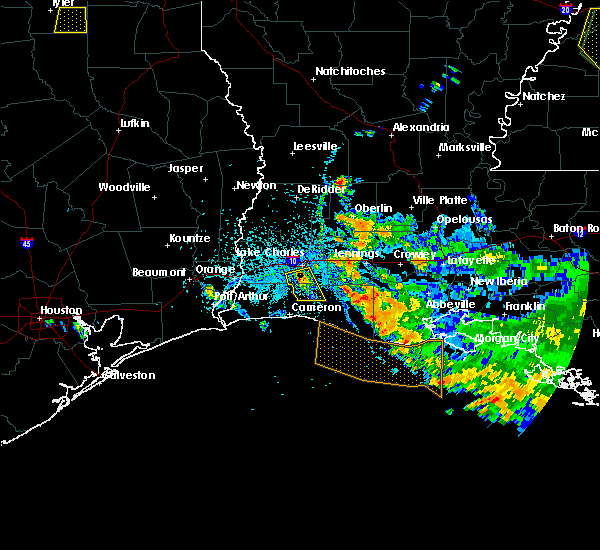 Radar Image for Severe Thunderstorms near Lake Charles, LA at 6/9/2015 4:38 PM CDT