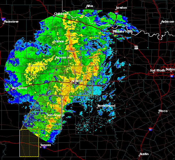 Radar Image for Severe Thunderstorms near Stamford, TX at 3/13/2019 1:44 AM CDT