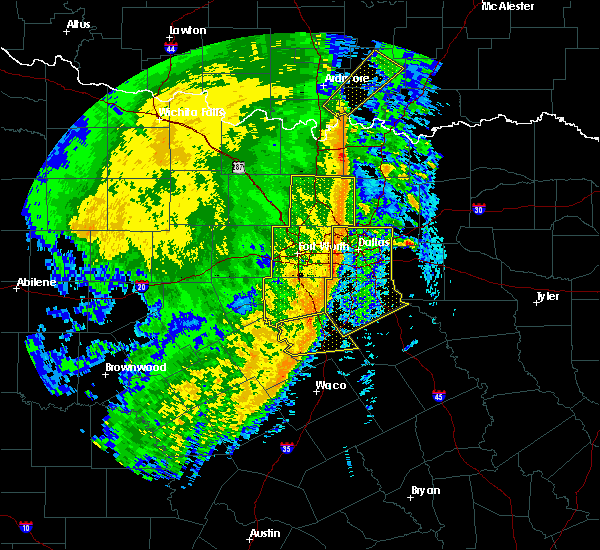 Radar Image for Severe Thunderstorms near Flower Mound, TX at 3/13/2019 5:04 AM CDT