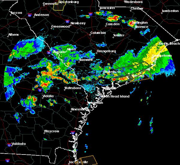 Radar Image for Severe Thunderstorms near Ravenel, SC at 6/9/2015 5:54 PM EDT
