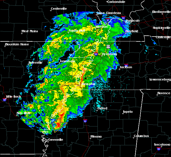 Radar Image for Severe Thunderstorms near Cleveland, MS at 3/13/2019 8:57 PM CDT