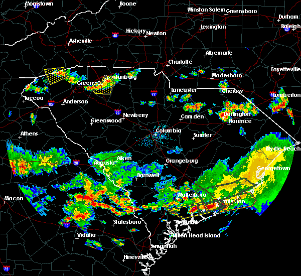 Radar Image for Severe Thunderstorms near Patrick, SC at 6/9/2015 6:03 PM EDT