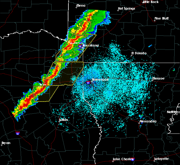 Radar Image for Severe Thunderstorms near Tyler, TX at 3/14/2019 2:50 AM CDT