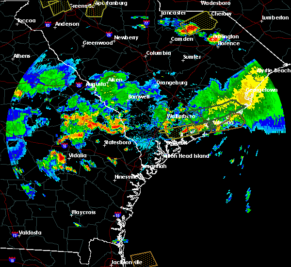 Radar Image for Severe Thunderstorms near Hollywood, SC at 6/9/2015 6:08 PM EDT