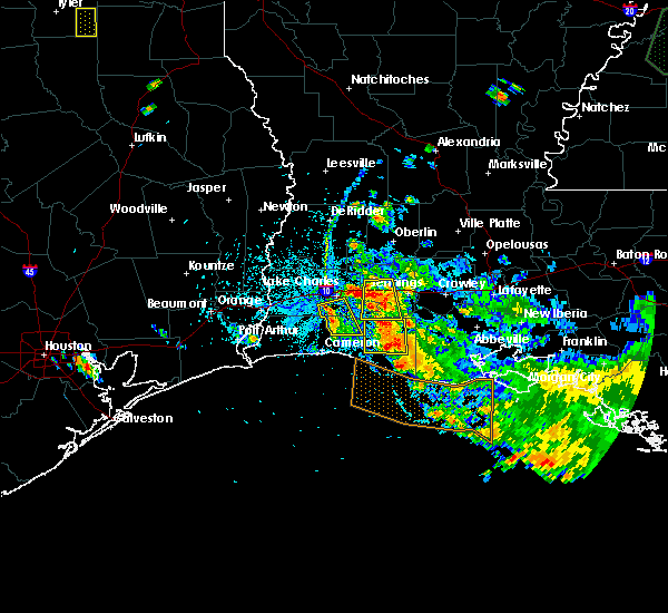 Radar Image for Severe Thunderstorms near Lake Charles, LA at 6/9/2015 5:11 PM CDT