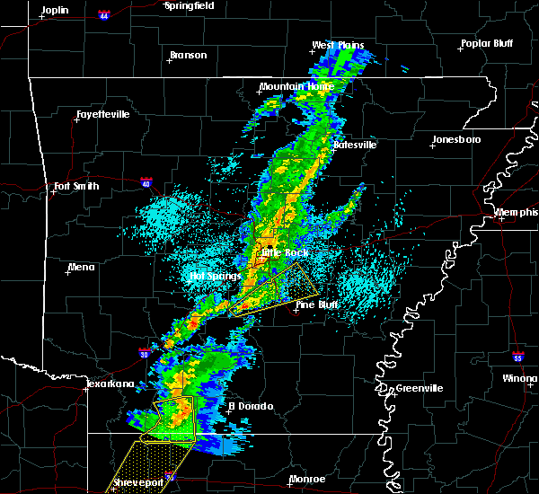 Radar Image for Severe Thunderstorms near White Hall, AR at 3/14/2019 4:43 AM CDT