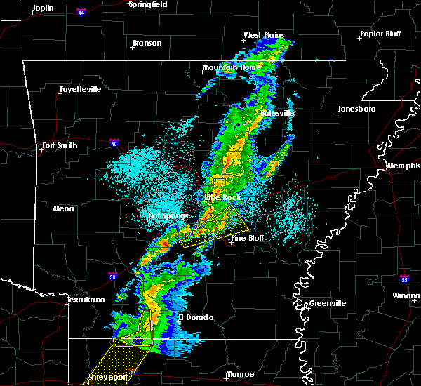 Radar Image for Severe Thunderstorms near Woodson, AR at 3/14/2019 4:55 AM CDT