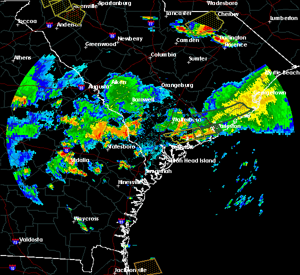 Radar Image for Severe Thunderstorms near Ravenel, SC at 6/9/2015 6:35 PM EDT