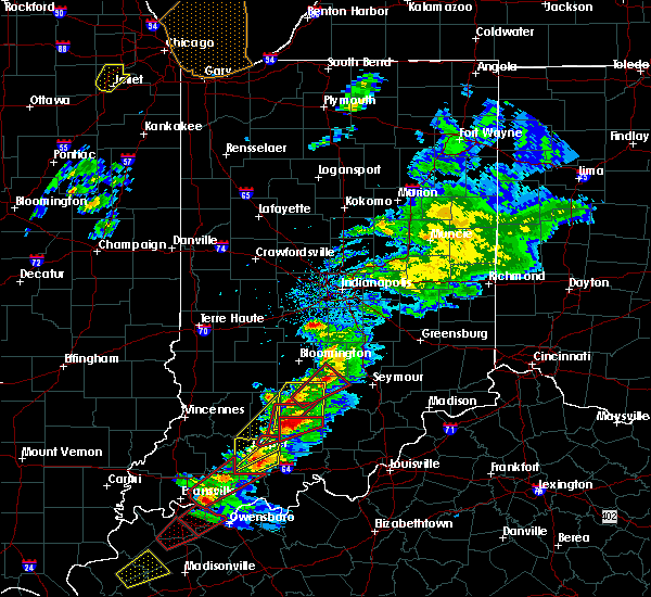 Radar Image for Severe Thunderstorms near Freetown, IN at 3/14/2019 1:38 PM EDT