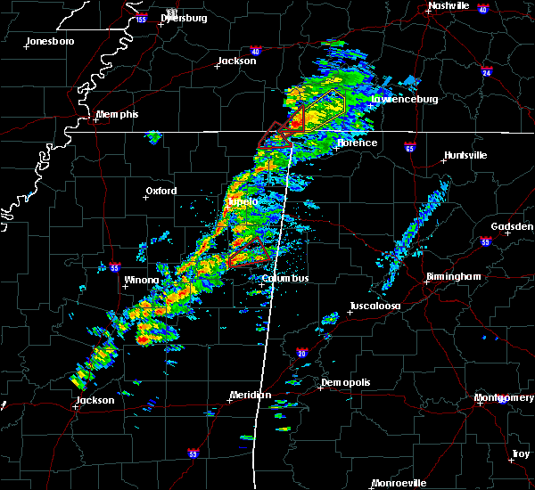 Radar Image for Severe Thunderstorms near Hamilton, MS at 3/14/2019 12:48 PM CDT