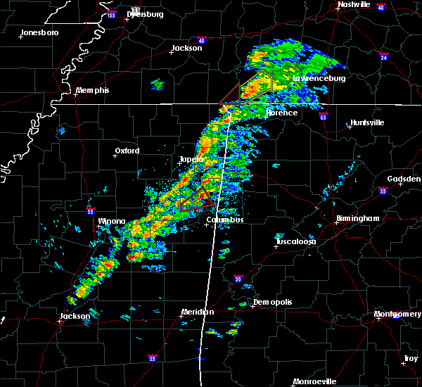 Radar Image for Severe Thunderstorms near Waterloo, AL at 3/14/2019 1:00 PM CDT