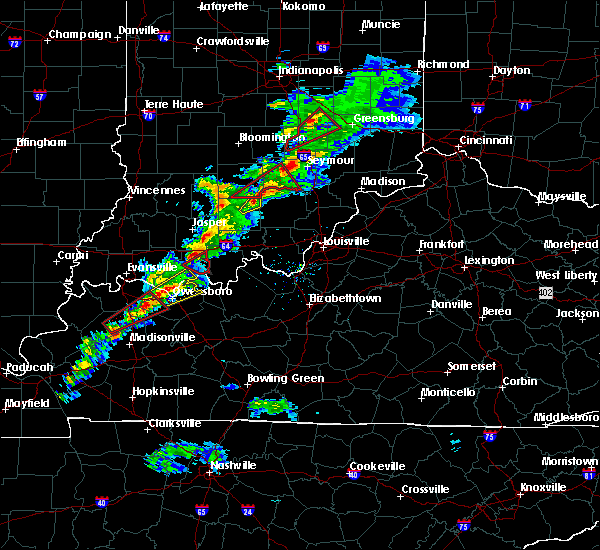 Radar Image for Severe Thunderstorms near Campbellsburg, IN at 3/14/2019 2:10 PM EDT
